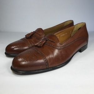 Bostonian Florentine Brown Leather Loafer Shoes